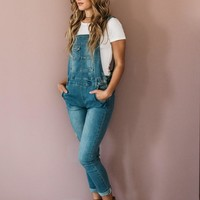 Light Denim Overalls
