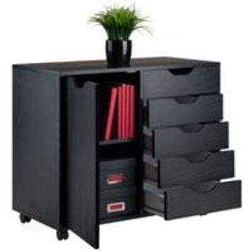 Winsome Wood 20630 Halifax Cabinet Black Finish