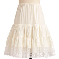 Let's Turn Up the Volume Petticoat in White | Mod Retro Vintage Underwear | ModCloth.com