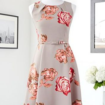 Eva Mendes Collection - Riviera Fit & Flare Dress - Vintage Rose - New York & Company
