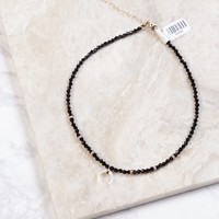 Beaded Choker, Black