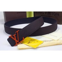 Louis Vuitton Women or Men Fashion Smooth Buckle Leather Belt