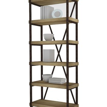 Berlin 72 in. 6-Shelf Bookcase - Salvaged Oak | www.hayneedle.com