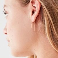 18k Gold + Sterling Silver Delicate Threader Earring | Urban Outfitters