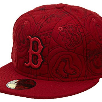 New Era Boston Red Sox Fitted Hat Mens Style: HAT352-RED Size: 7 7/8