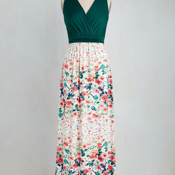 Adore County Dress in Watercolor Flowers | Mod Retro Vintage Dresses | ModCloth.com