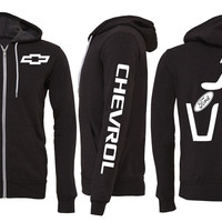 Chevy Trashing Ford Zipper Hoodie
