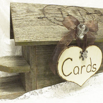 Wedding Card Box Birdhouse Personalized Rustic Wedding Decor