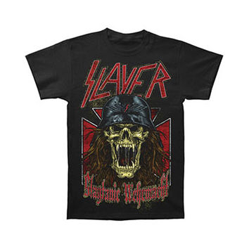 Slayer Men's  Wehrmacht Skull T-shirt Black