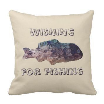 Tolopea Wishing for Fishing Throw Pillow