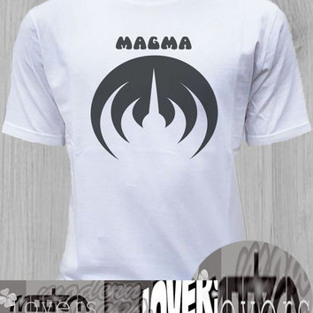 magma TShirt Tee Shirts Black and White For Men and Women Unisex Size
