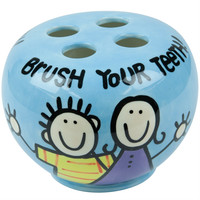 Brush Your Teeth Ceramic Toothbrush Holder