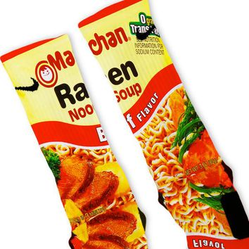 Beef Ramen Noodles Custom Nike Elite Socks