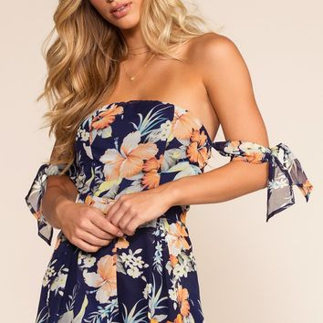 Anna Romper - Tropical Navy