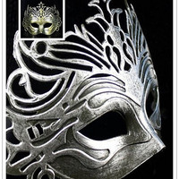 Halloween / Baron mask / Antique ancient Rome fighter crown mask / Masquerade Mask = 1945772996
