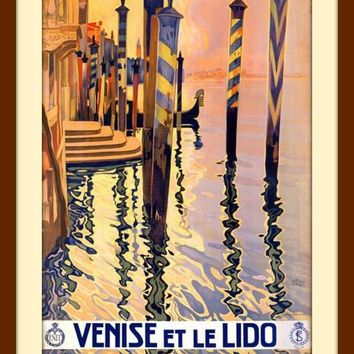Italian Wall Art from Venice, Italy, Metal Wall Art and Italy Print - Orange Home Decor - Home Decor Signs - European Art - Metal Wall Decor