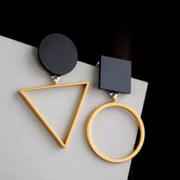 Circle Square Trendy Earrings