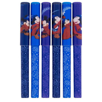 Disney Parks 2017 Mickey Mouse Sorcerer Pen Set of 6 New with Bag