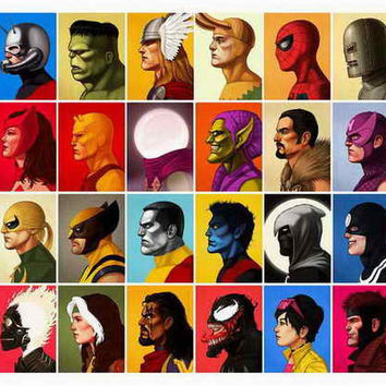 Modern Home Art Wall Decor Super Heroes Haven Oil Painting Printed On Canvas