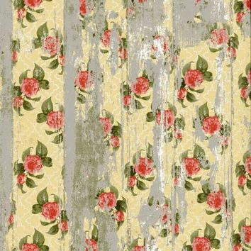 Yellow Flower Grunge Wood Baby Drop Vinyl Backdrop - 3x4 - LCBD7212 - LAST CALL