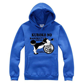 AnimeTown The Basketball which Kuroko Plays Long Sleeves Hat Hoodie (XL, Blue)