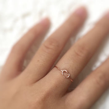 Gift- Rose Gold Knot Ring // Knot ring,Adjustable Ring,Unique ring,Rose gold ring,copper ring,love ring,Wrap Ring,delicate jewelry,wire ring