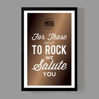 AC/DC Custom Poster - For those about to rock, we salute you Lyrics - Colorful, rock, music, home, decor