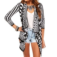 White/Black Tribal Cardigan