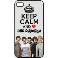 Keep Calm and Love One Direction 1D Beautiful iPhone 4 4s Hard Case Cover