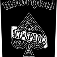 Motorhead Sew On Canvas Back Patch Ace Of Spades Logo