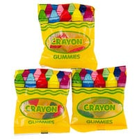 Gummy Crayons Candy Packs: 25-Piece Bag