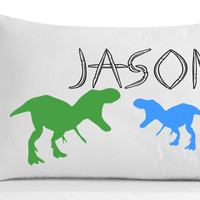 Personalized Dinosaurs Pillowcase -Bedroom Decor