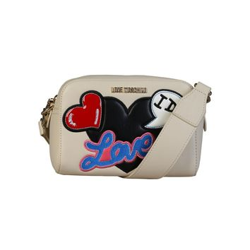 Love Moschino White Leather Clutch Bag
