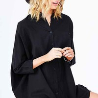BDG Pajama Shirt Dress-