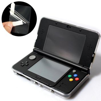 2 in 1 Clear Top Bottom Transparen LCD Screen Cover HD Clear Film Protective Surface Guard For Nintendo For New 3DS