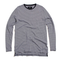Stripe Flintlock Longsleeve Shirt White / Navy