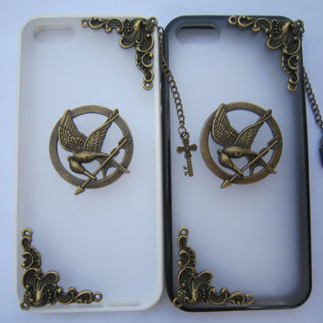 iPhone 4, 4s Cover, Case, iPhone 5 Cover, the Hunger Games Case, Inspired Mockingjay Cover, Paper Plane Case, Phoenix Cover, Mint Green Case