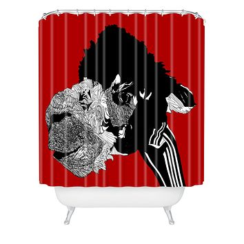 Casey Rogers Alpaca Shower Curtain