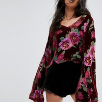 Rahi Cali Bouquet Burnout Top at asos.com