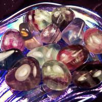 "FLUORITE ""Smart Decisions Stone"" Helps You Make Better Choices From Your Heart & Soul - Healthy Lifestyle Talisman"