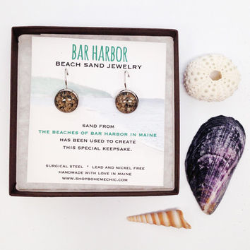 Bar Harbor Beach Maine Beach Sand Jewelry Beach Sand Jewelry, Sand Jewelry, Nautical, Summer, One of a Kind Gift, Made in Maine
