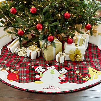Mickey Mouse and Friends Holiday Tree Skirt - Personalizable | Disney Store