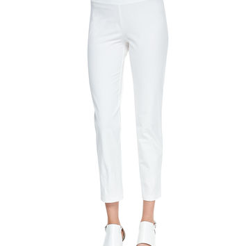 Washable Stretch-Crepe Ankle Pants, Petite - Eileen Fisher