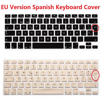 EU Euro ESP Spanish Keyboard Cover For Macbook Air Pro Retina 13 15 Silicon Laptop Keyboard Skin Protector For iMac PC Computer