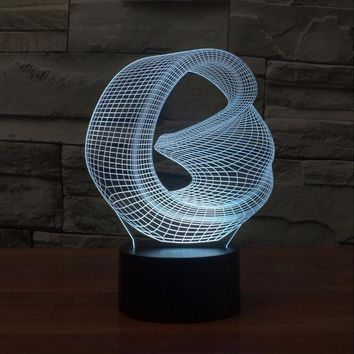 Abstract II 3D LED Night Light Lamp