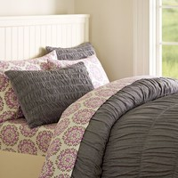 Ruched Jersey Duvet Cover + Sham