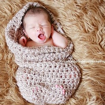 HAT Teddy Bear Cocoon Newborn Photo Prop in Browns Photography Set all babies Photo Shoot Infant Girl Boy Perfect GIFT Newborns New Baby