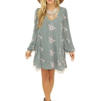 Free People Emma Dress in Misty Teal | Boutique To You