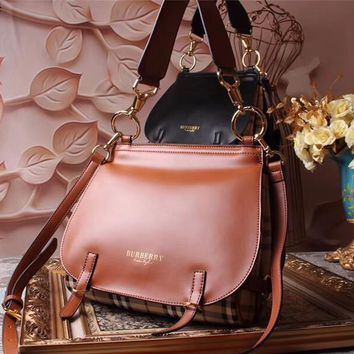 Beauty Ticks Burberry Women's Leather Inclined Shoulder Bag #2056