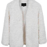 LE3NO Womens Oversized Long Sleeve Faux Fur Coat with Pockets (CLEARANCE)